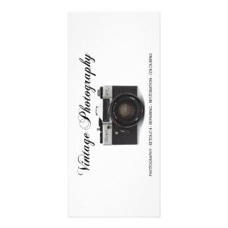 Old film camera rack card template