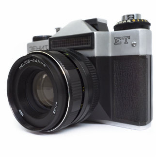 Old film camera statuette