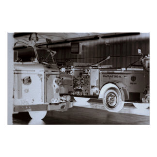 Old Fire Trucks Poster