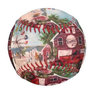 Old Firehouse, Geneva Painting on a basball Baseball