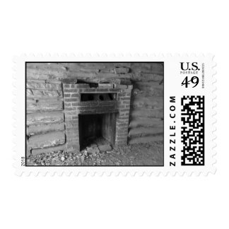 Old Fireplace Postage Stamps