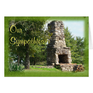 Old Fireplace Sympathies- any occasion-customize Cards
