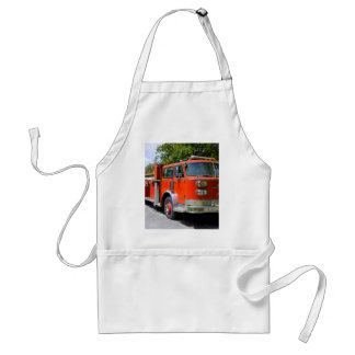 Old Firetruck Adult Apron