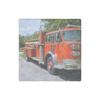 Old Firetruck Stone Magnet