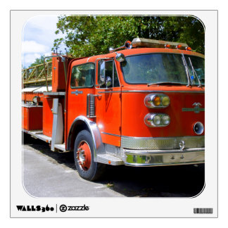 Old Firetruck Wall Decal