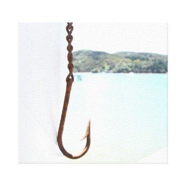 Beach Themed Old fish hook photo print