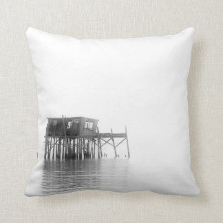 Old Fish House Throw Pillows