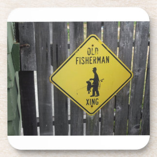 Old Fisherman Crossing Drink Coaster