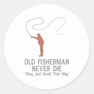 Old Fisherman Never Die Classic Round Sticker