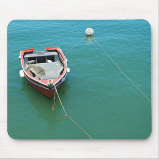 Old fishing boat at the port in Cascais, Portugal Mouse Pad