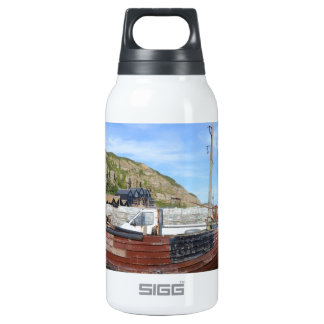 Old Fishing Boat On The Beach Insulated Water Bottle