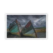 Old Fishing Boats Acrylic Tray