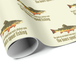 Old Fishing Saying Brook Trout Wrapping Paper