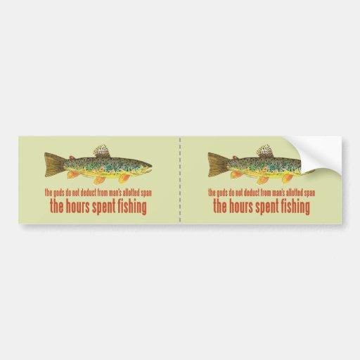 Old Fishing Saying Bumper Sticker