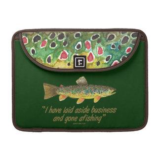 Old Fishing Words MacBook Pro Sleeve
