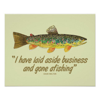 Old Fishing Words Poster