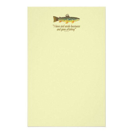 Old Fishing Words Stationery
