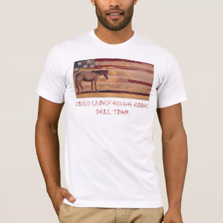 Old Flag CIBOLO LIVERY ROUGH RIDERS T-Shirt