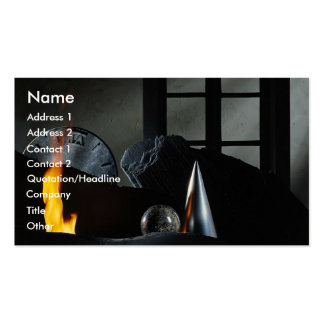 Old flame burning background Double-Sided standard business cards (Pack of 100)