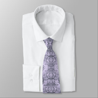 Old Floral Pattern revisited transformed Mauve Tie