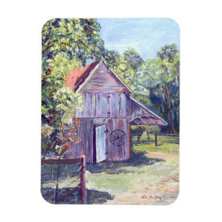 Old Florida Barn Rustic Acrylic Painting Magnet