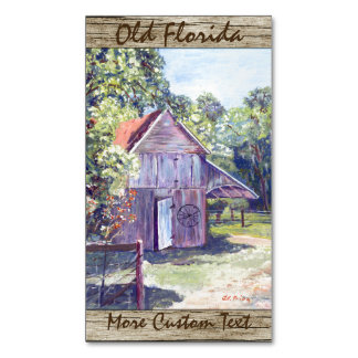 Old Florida Barn Rustic Acrylic Painting Magnetic Business Card