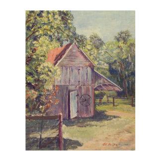 Old Florida Barn Rustic Acrylic Painting Wood Wall Art