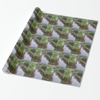 OLD FLORIDA FISH POND Wrapping Paper