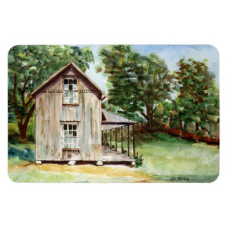 Old Florida Homestead Rustic Watercolor Painting Magnet