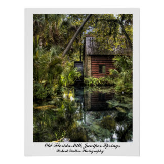 Old Florida Mill Poster