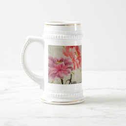 OLD FLOWER PRINT BEER STEIN