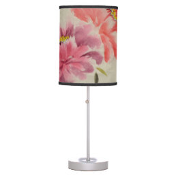 OLD FLOWER PRINT TABLE LAMP