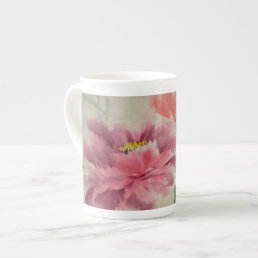 OLD FLOWER PRINT TEA CUP