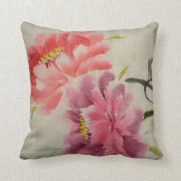 OLD FLOWER PRINT THROW PILLOW