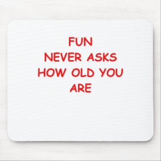 old folk mouse pad