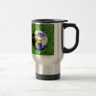 Old football  sweden travel mug