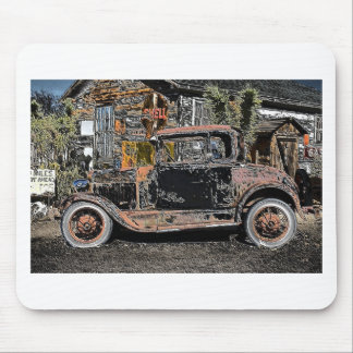 Old Ford On Route 66 Mousepads