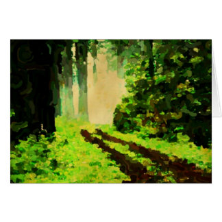 old forest road to the light stationery note card