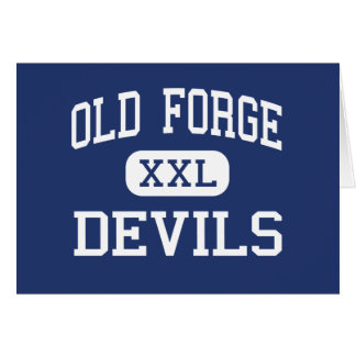 Old Forge - Devils - High - Old Forge Pennsylvania Card