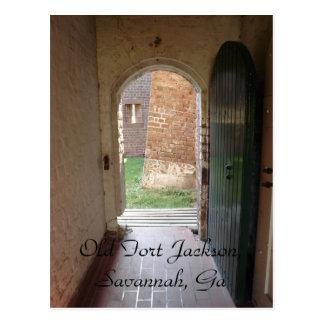Old Fort Jackson, Savannah, Ga Postcard
