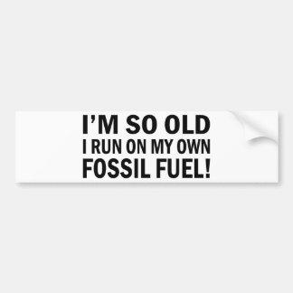 Old Fossil Fuel Bumper Sticker