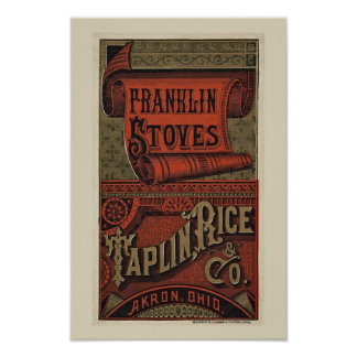 Old Franklin Stoves Poster