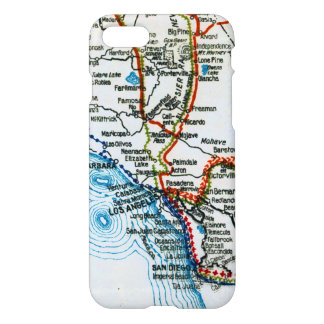 Old Freeway Map Los Angeles and San Diego iPhone 7 Case