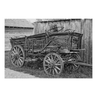 OLD FREIGHT WAGON POSTER