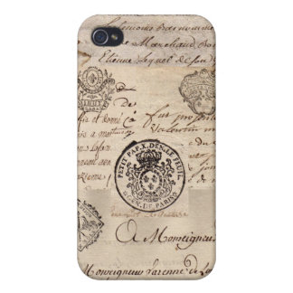 Old French Documents iPhone 4 Case