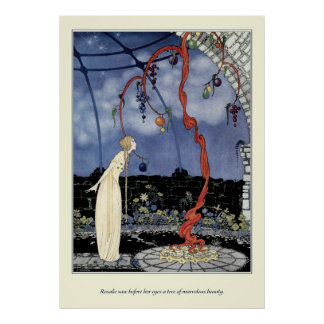 Old French Fairy Tales: A Tree of Marvelous Beauty Print