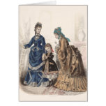 Old French Fashion Illustration by Heloise Leloir Card