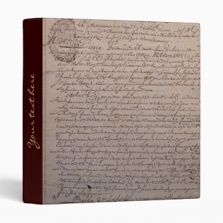 Old French Parchment Binder