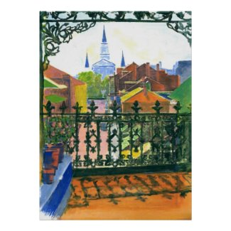 Old French Quarter Balcony New Orleans Poster