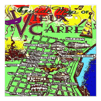 Old French Quarter MAp Card